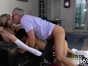 Young sweetheart cums hard during a fuck session with a guy