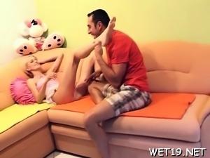 Slender russian blonde doll Katerina Sz cums hard