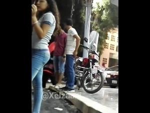 Egyptian sexy hot ass tight jeans Voyeur - Candid Ass - V16