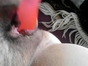 Amateur Hairy BBW Toying 4