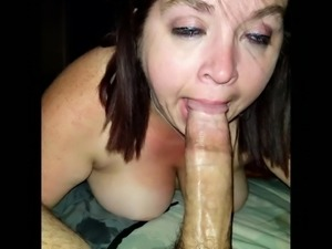 Sexy BBW Slurpin on Cock Til She Gets a Mouthful of Cum