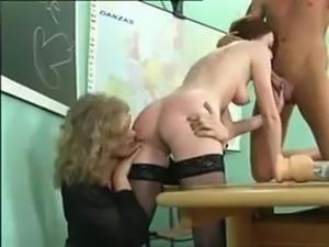 ADORABLE SCHOOLGIRL in action